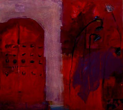 Through the red door-80x88in