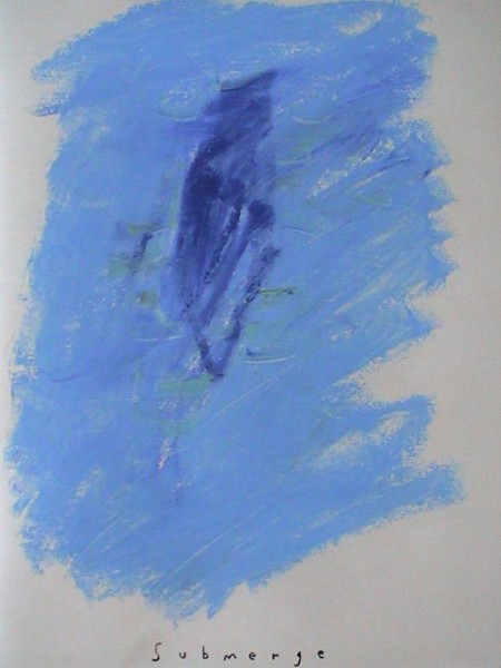 DP003-Submerge-13x10 in-Oil pastel paper-2003